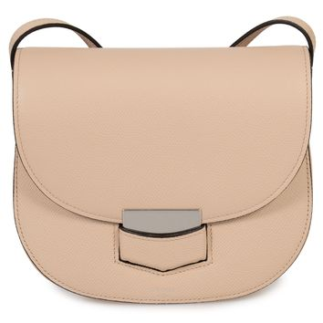 Celine Small Trotteur Powder Pink Grained Calfskin Leather Crossbody Bag