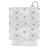 """julia grifol """"White Flowers""""  Shower Curtain - Outlet Item"""