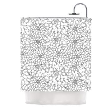 "julia grifol ""White Flowers""  Shower Curtain - Outlet Item"