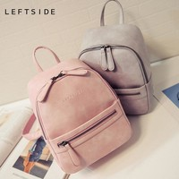 Women Backpack  Fashion Casual PU Leather ladies feminine backpack for teenage girls school bag solid mini Small backpack