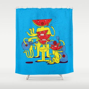 Watermelon Musican Shower Curtain by Babak Esmaeli