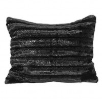 Wake Up Frankie - Black Glam Faux Mink Standard Sham : Teen Bedding, Pink Bedding, Dorm Bedding, Teen Comforters