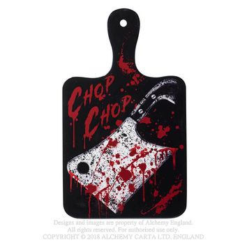 Alchemy Gothic Chop Chop Cutting Board Blood Splatter Kitchen