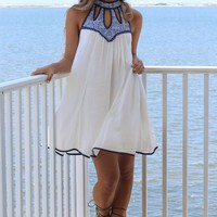 Villa Marina White Sleeveless Dress