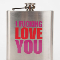Urban Outfitters - I F'n Love You Flask