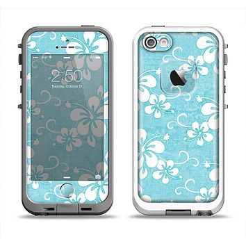 The Vintage Hawaiian Floral Apple iPhone 5-5s LifeProof Fre Case Skin Set