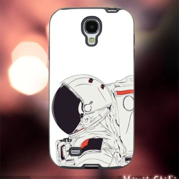 MC42Z,18,astronaut,cartoon,space,galaxy,nebula -Accessories case cellphone- Design for Samsung Galaxy S5 - Black case -Material Soft Rubber