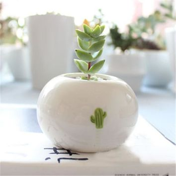 Cute Plant Ceramic Planter