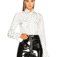 Loewe Dot Lavalliere Blouse in White | FWRD