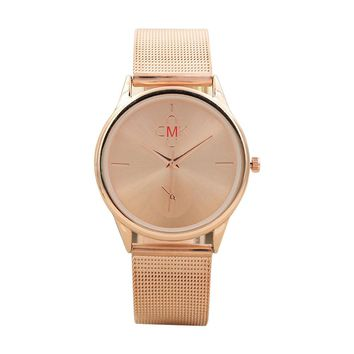 Women Fashion Mesh Watch Classic Quartz Stainless Steel Watch
