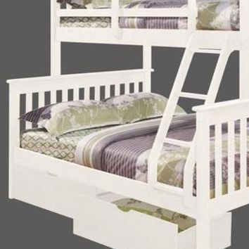 Hazel White Bunk Bed with Storage