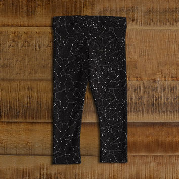 Space Pants, Solar System baby leggings, constellations and stars printed baby clothes and leggings