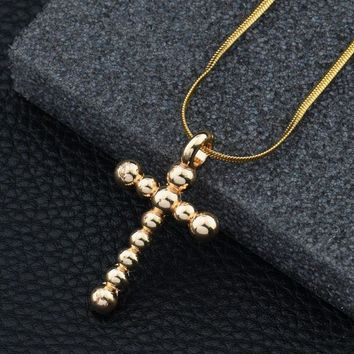 Shiny Gift Jewelry New Arrival Stylish Alloy Cross Rack Necklace [10768842947]