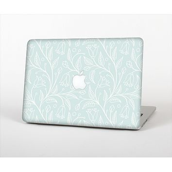 The Light Blue Floral Branches Skin Set for the Apple MacBook Pro 15""
