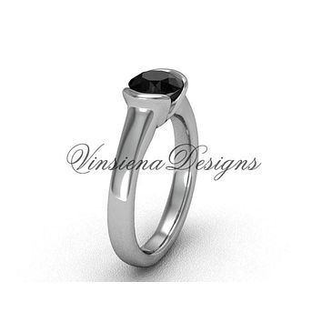 Platinum engagement ring, Black Diamond VD10016