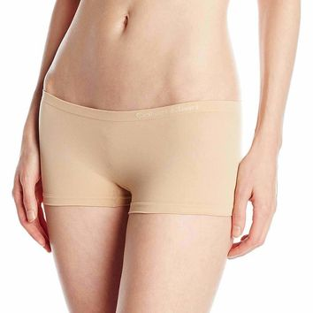 Calvin Klein Womens CK Pure Seamless Boyshort, Hipster Panty, Bare (Skin Colour)