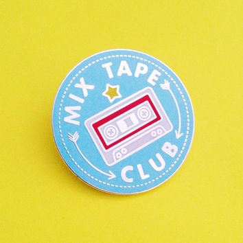 Mix Tape Club Enamel Lapel Pin Badge