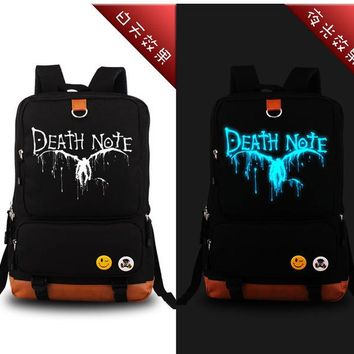 Japanese Anime Bag 2017 New  Death Note Luminous Backpack Travel Shoulder Bags Men Women Cartoon Fans School Laptop Bags AT_59_4