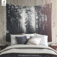 Dark paths | Forest and Wanderlust Wall Tapestry | Nature Photography | Wall Tapestries | Wall Hanging | Wall Decor | Wanderlust | Original