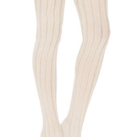 Free People All for One Over the Knee Socks in Ivory