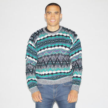1990s Cosby Sweater - 90s Coogi Style Sweater - Vintage Hip Hop Sweaters - MT0098