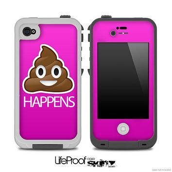 Hot Pink Crap Happens Skin for the iPhone 5 or 4/4s LifeProof Case