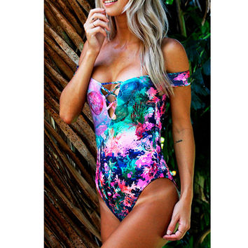 Gova Swimwear Ocean Off Shoulder One Piece Swimsuit