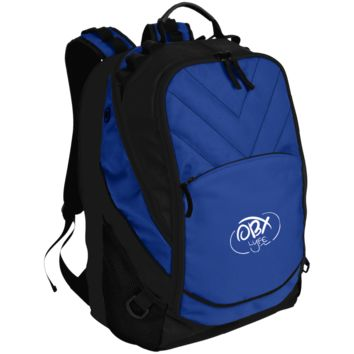 Embroidered Cloud White OBX Lyfe Port Authority Laptop Computer Backpack in 5 Colors