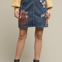 Gardener's Denim Pencil Skirt