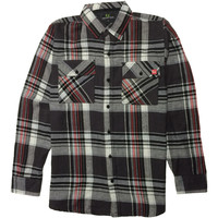 Fitz Flannel Black/Red