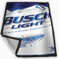 New Busch Light Beer Blanket for Kids Blanket, Fleece Blanket Cute and Awesome Blanket for your bedding, Blanket fleece *
