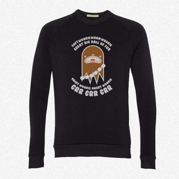 Soft Wookie Warm Wookie Great Big Ball Of Fur fleece crewneck sweatshirt