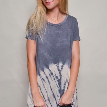 Tie Dye Swing Tunic Top