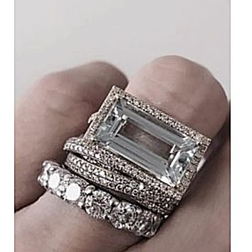 The Regalia Russian Lab Diamond Stacking Ring Set