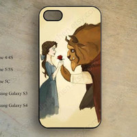 Beauty and the beast iPhone case,iphone 5s case,iPhone 5c Case,iphone 5 case,iphone 4 case,samsung galaxy S4 S3,hipster iPhone case X-131