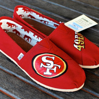 Custom 49ers TOMS shoes