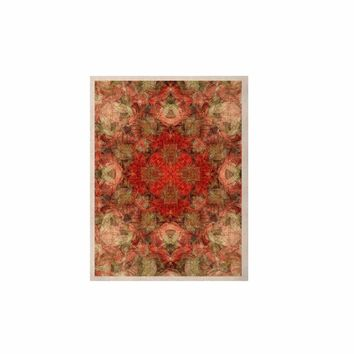 """Justyna Jaszke """"Mandala Love Art"""" Red Pastel Abstract Pattern Digital Illustration KESS Naturals Canvas (Frame not Included)"""