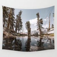 Alpine Lake Reflections Wall Tapestry by jasde