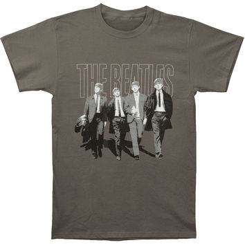 Beatles Men's  Walking In London T-shirt Charcoal Rockabilia