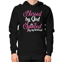 BLESSED BY GOD Hoodie (on man)