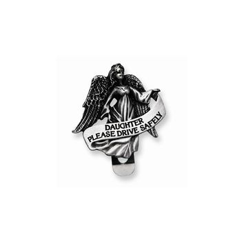 Pewter Finish Daughter Guardian Angel Visor Clip - Perfect Religious Gift