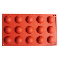 Creative DIY 15 even dome silicone cake mold chocolate mould ice tray mold pudding mold CDSM-268