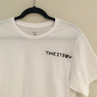 "Heathens ""Take It Slow"" Embroidered T-Shirt"