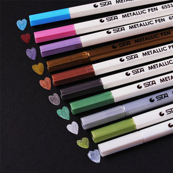 DIY Cute Kawaii Water Chalk Pen Watercolor Gel Pen for Black Board Photo album Home Decoration Scrapbooking Free shipping 533