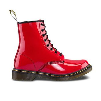 Dr. Martens 1460 - W 8-Eye Red Patent Boot
