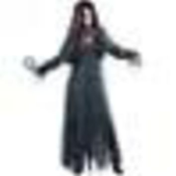 Halloween Irregular Long Sleeve Graveyard Zombie Bride Costume Scary Gothic Ghost Spooky Fancy Dress For Adult Women Size M-XL