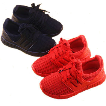 Kids Lace Up Casual Sport Shoes Boys Girls Baby Unisex Sneakers Mesh Children Running Walking Shoes (Toddler/Little/Big Kids)