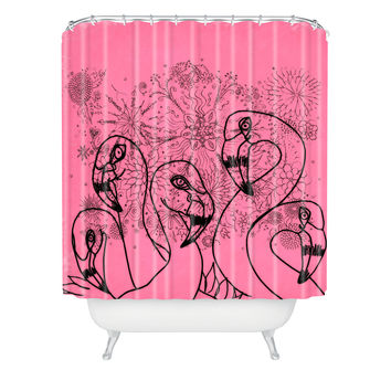 Lisa Argyropoulos Pink Flamingos Shower Curtain