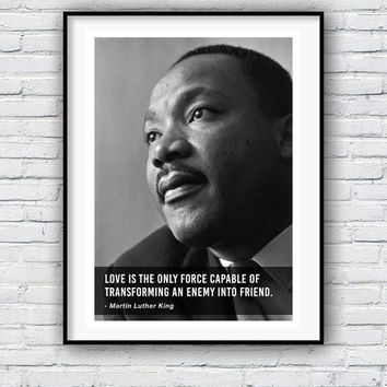 Martin Luther King, Quote poster, Typographic print, Inpirational Genius Quote, Sizes A4-A0