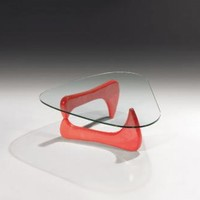 Modern Glass Red Coffee Table